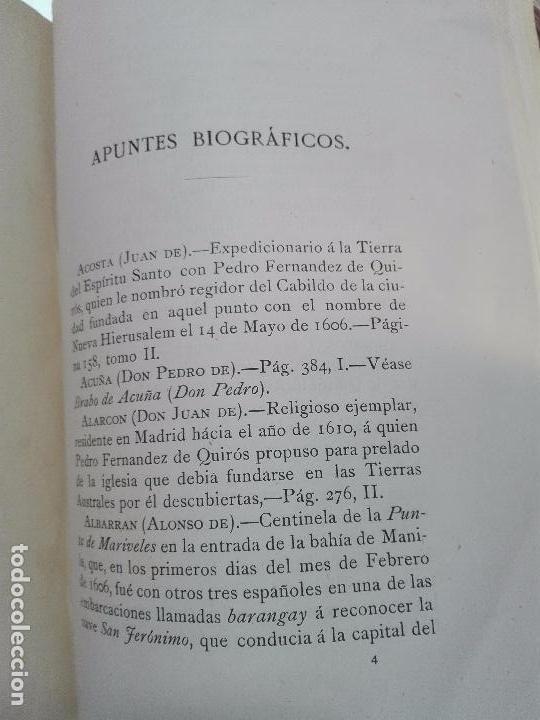 Libros antiguos: HISTORIA DEL DESCUBRIMIENTO DE LAS REGIONES AUSTRIALES - PEDRO FERNANDEZ DE QUIRÓS - 2 TOMOS - 1876 - Foto 11 - 100473423