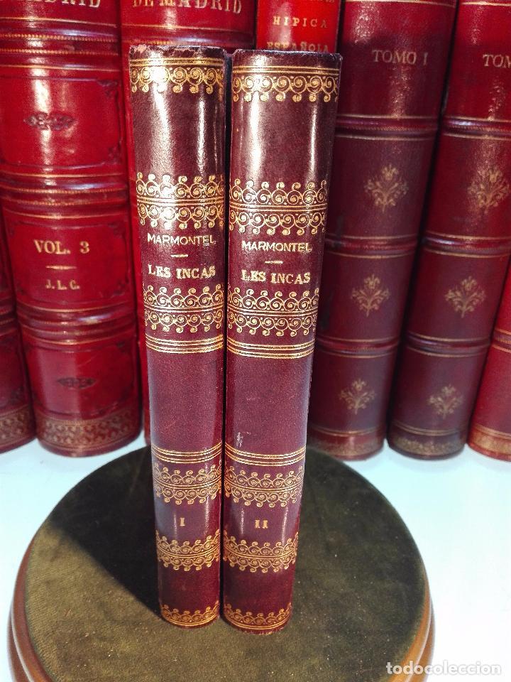 LES INCAS OU LA DESTRUCTION DE L'EMPIRE DU PÉROU - 2 TOMOS - M. MARMONTEL - PARIS - 1777 - (Libros antiguos (hasta 1936), raros y curiosos - Historia Moderna)