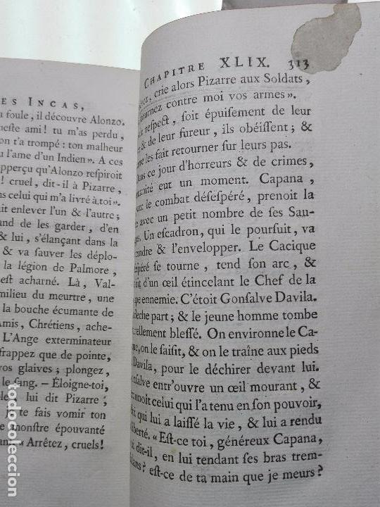 Libros antiguos: LES INCAS OU LA DESTRUCTION DE LEMPIRE DU PÉROU - 2 TOMOS - M. MARMONTEL - PARIS - 1777 - - Foto 14 - 101121495