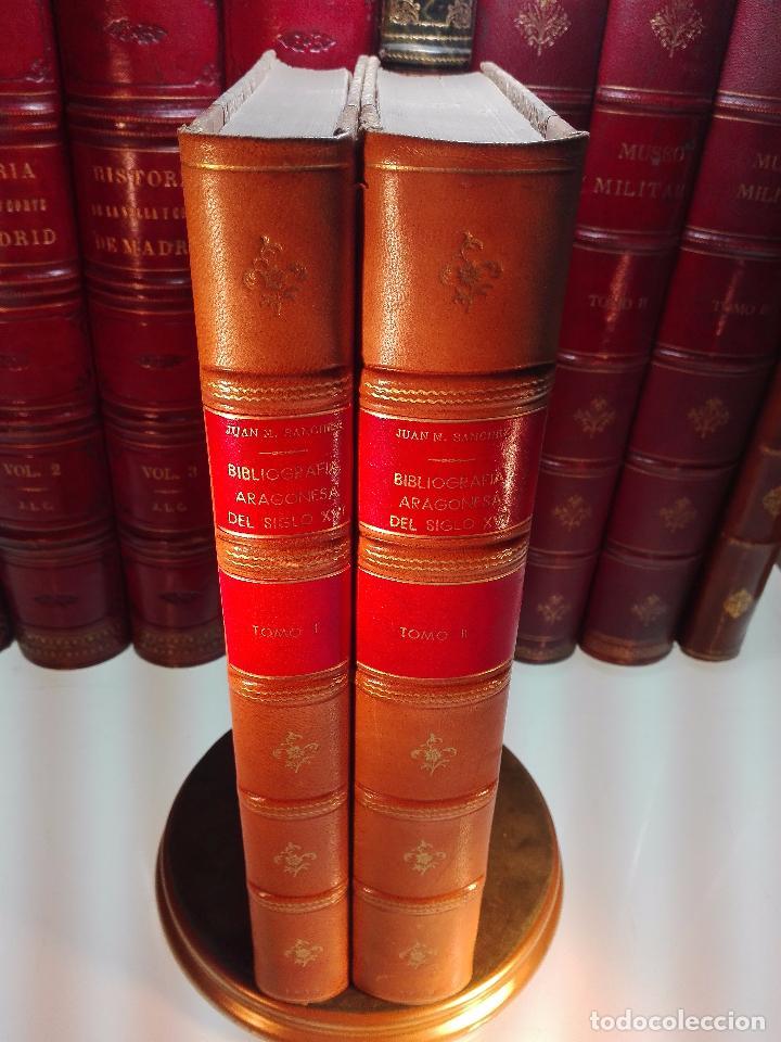 BIBLIOGRAFÍA ARAGONESA DEL SIGLO XVI ( 1501-1550 ) - JUAN M. SÁNCHEZ - 2 TOMOS - MADRID - 1913 - (Libros antiguos (hasta 1936), raros y curiosos - Historia Moderna)