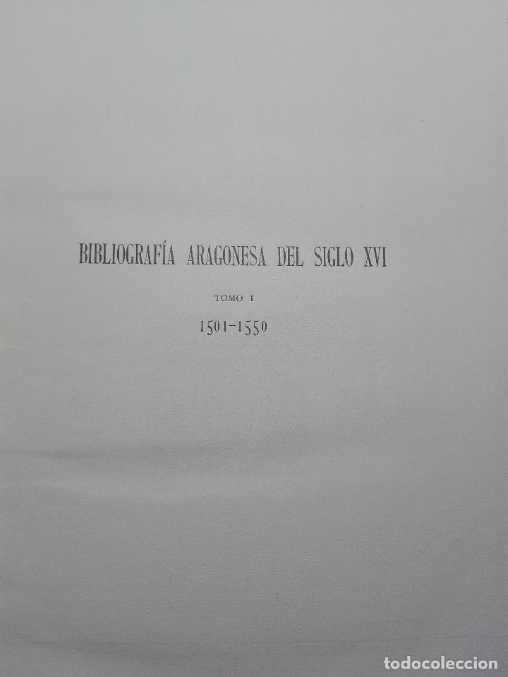 Libros antiguos: BIBLIOGRAFÍA ARAGONESA DEL SIGLO XVI ( 1501-1550 ) - JUAN M. SÁNCHEZ - 2 TOMOS - MADRID - 1913 - - Foto 3 - 101315547