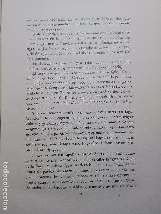 Libros antiguos: BIBLIOGRAFÍA ARAGONESA DEL SIGLO XVI ( 1501-1550 ) - JUAN M. SÁNCHEZ - 2 TOMOS - MADRID - 1913 - - Foto 5 - 101315547