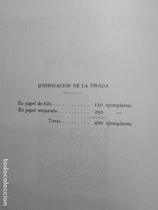 Libros antiguos: BIBLIOGRAFÍA ARAGONESA DEL SIGLO XVI ( 1501-1550 ) - JUAN M. SÁNCHEZ - 2 TOMOS - MADRID - 1913 - - Foto 13 - 101315547