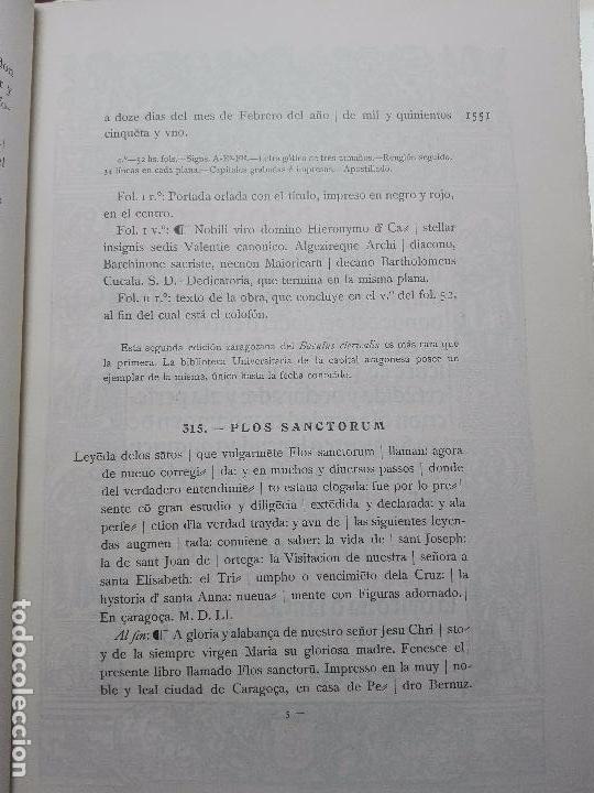Libros antiguos: BIBLIOGRAFÍA ARAGONESA DEL SIGLO XVI ( 1501-1550 ) - JUAN M. SÁNCHEZ - 2 TOMOS - MADRID - 1913 - - Foto 14 - 101315547