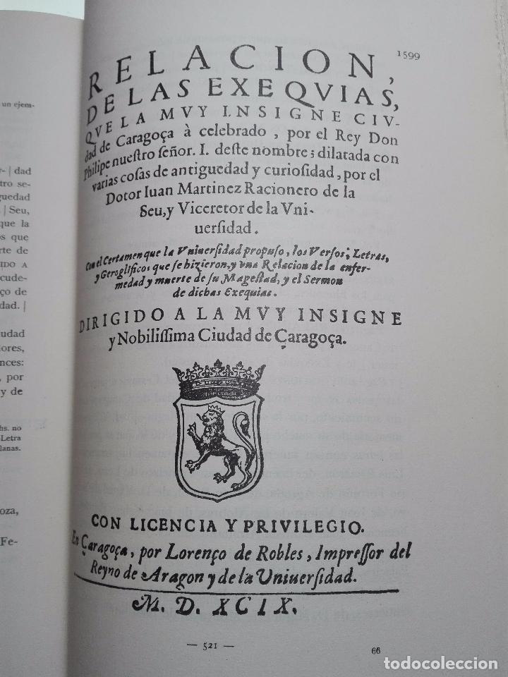 Libros antiguos: BIBLIOGRAFÍA ARAGONESA DEL SIGLO XVI ( 1501-1550 ) - JUAN M. SÁNCHEZ - 2 TOMOS - MADRID - 1913 - - Foto 19 - 101315547