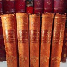 Libros antiguos: HISTORIA DE LA REGENCIA DE Dª Mª CRISTINA - D. JUNA ORTEGA RUBIO - 5 TOMOS - MADRID -1905 -. Lote 101470471
