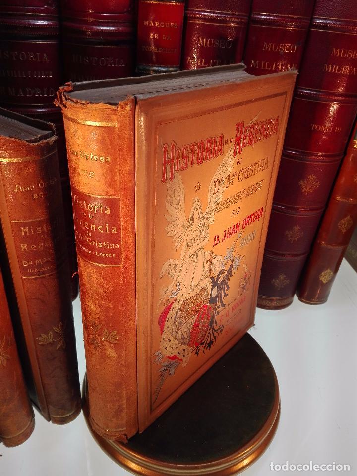 Libros antiguos: HISTORIA DE LA REGENCIA DE Dª Mª CRISTINA - D. JUNA ORTEGA RUBIO - 5 TOMOS - MADRID -1905 - - Foto 2 - 101470471