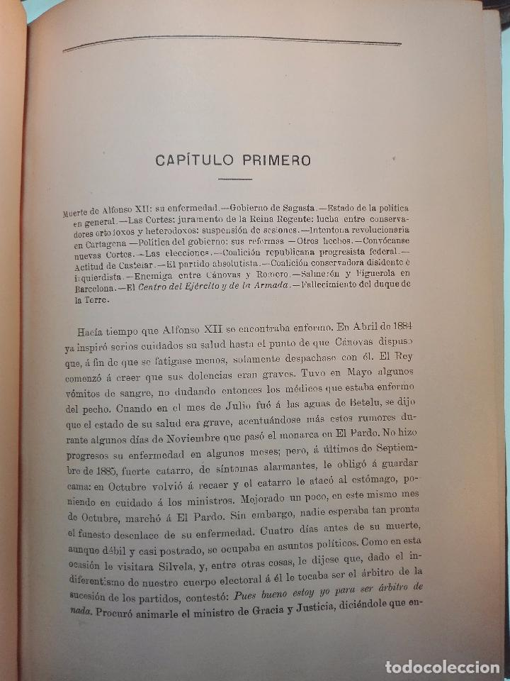 Libros antiguos: HISTORIA DE LA REGENCIA DE Dª Mª CRISTINA - D. JUNA ORTEGA RUBIO - 5 TOMOS - MADRID -1905 - - Foto 8 - 101470471