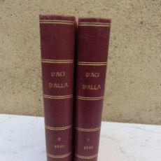 Libros antiguos: D'ACI D'ALL REVISTAS AÑO COMPLETO DE 1918. Lote 102344115