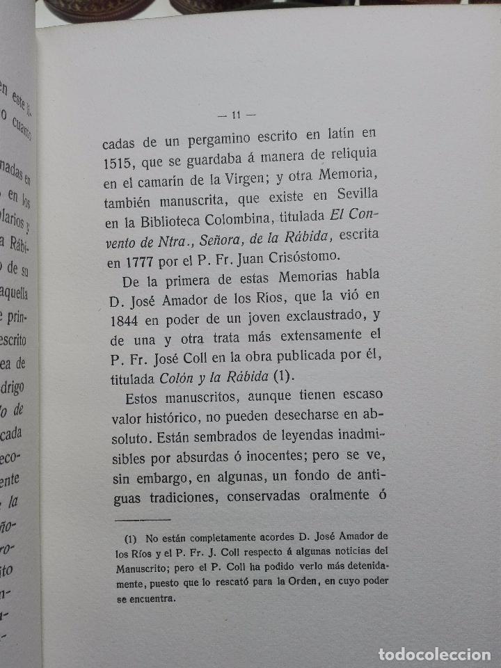 Libros antiguos: EL MONASTERIO DE NUESTRA SEÑORA DE LA RÁBIDA - RICARDO VELÁZQUEZ BOSCO - MADRID - 1914 - - Foto 4 - 102576363