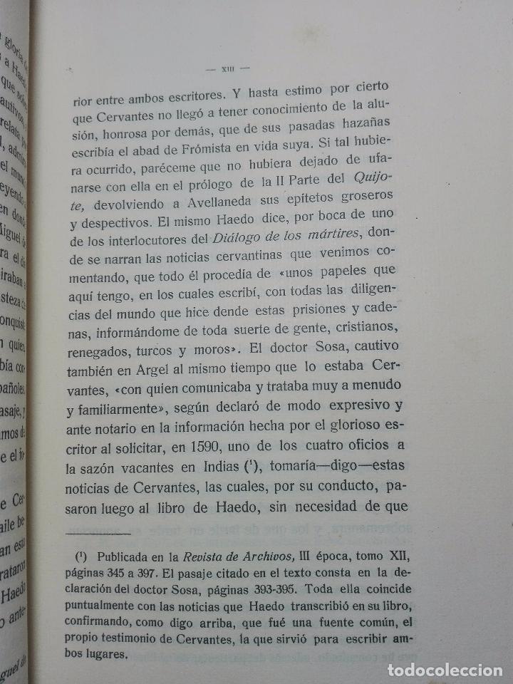 Libros antiguos: TOPOGRAFÍA E HISTORIA GENERAL DE ARGEL - FRAY DIEGO DE HAEDO - 3 TOMOS - MADRID - 1927 - BIBLIÓFILOS - Foto 5 - 102669907