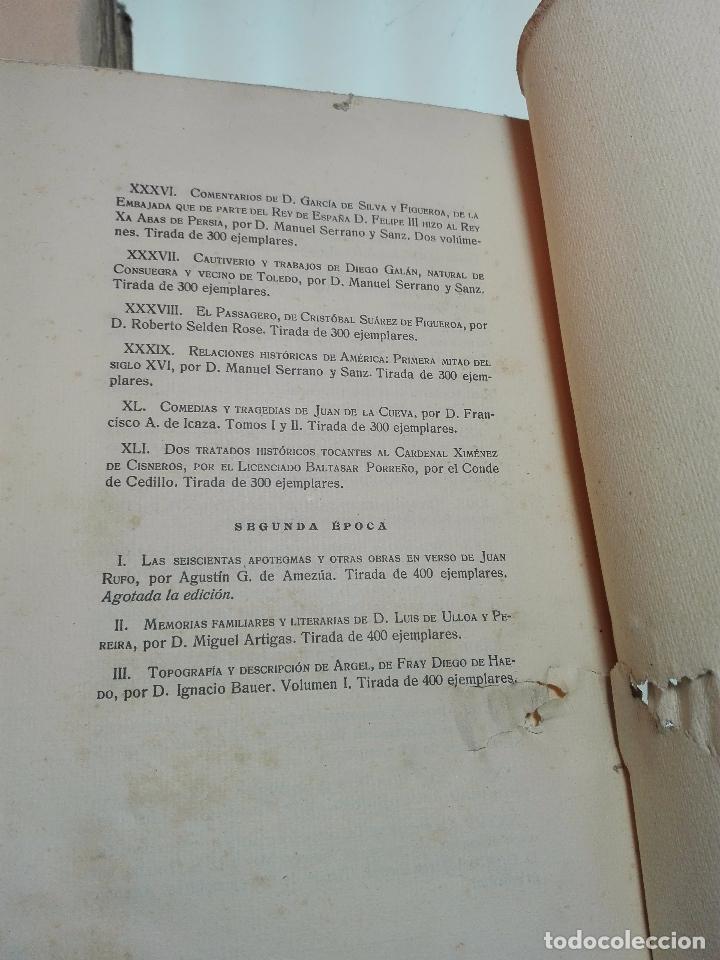 Libros antiguos: TOPOGRAFÍA E HISTORIA GENERAL DE ARGEL - FRAY DIEGO DE HAEDO - 3 TOMOS - MADRID - 1927 - BIBLIÓFILOS - Foto 7 - 102669907