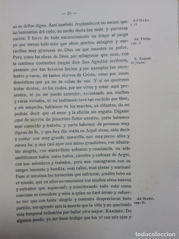 Libros antiguos: TOPOGRAFÍA E HISTORIA GENERAL DE ARGEL - FRAY DIEGO DE HAEDO - 3 TOMOS - MADRID - 1927 - BIBLIÓFILOS - Foto 18 - 102669907