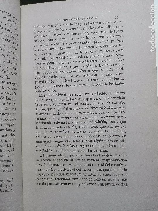 Libros antiguos: EL MONASTERIO DE PIEDRA-LAS LEYENDAS DEL MONTSERRAT-LAS CUEVAS DE MONTSERRAT- VÍCTOR BALAGUER - 1885 - Foto 3 - 103766587