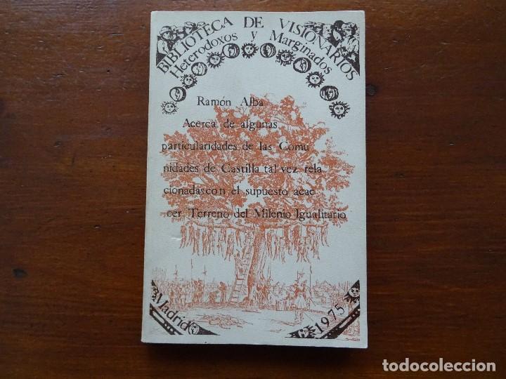 RAMÓN ALBA ACERCA DE ALGUNAS PARTICULARIDADES DE LAS COMUNIDADES DE CASTILLA (Libros antiguos (hasta 1936), raros y curiosos - Historia Moderna)