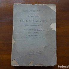 Libros antiguos: BIOGRAFÍA DE JOSÉ CELESTINO MUTIS, A FEDERICO GREDILLA. Lote 103777295