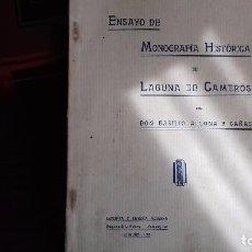 Libros antiguos: MONOGRAFIA HISTORICA DE LAGUNA DE CAMEROS. 1925. Lote 103839011