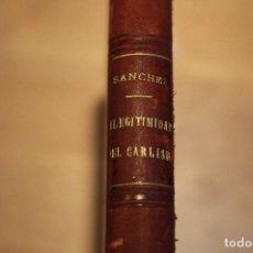 Libros antiguos: NOVEDAD E ILEGITIMIDAD DEL CARLISMO 1886. Lote 120442172