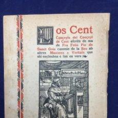Libros antiguos: POMPEU GENER. LOS CENT CONÇEYLS DE CENT. 1899. Lote 104383199