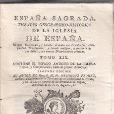 Libros antiguos: FR. HENRIQUE FLOREZ. ESPAÑA SAGRADA. DE LA IGLESIA COMPOSTELANA. 2 VOLS. 2ª ED. MADRID, 1792. Lote 104422703