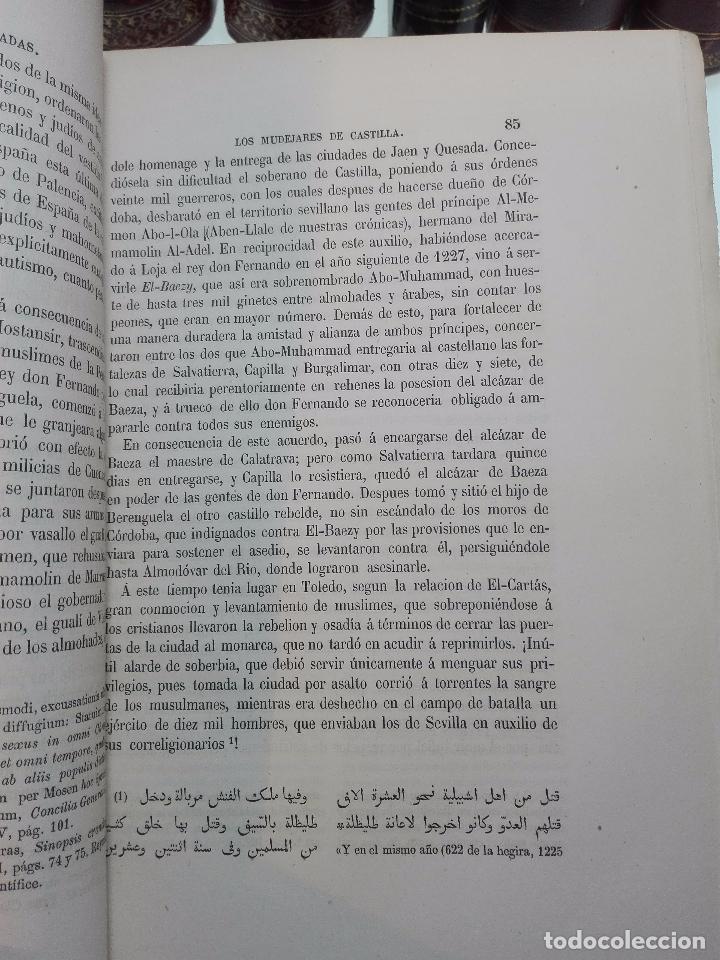 Libros antiguos: ESTADO SOCIAL Y POLÍTICO DE LOS MUDÉJARES DE CASTILLA - DON FRANCISCO FERNANDEZ Y GONZALEZ - 1866 - - Foto 4 - 104615367