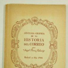 Libros antiguos: SÍNTESIS GRÁFICA DE LA HISTORIA DEL CORREO, ANGEL PEREZ PALACIOS, 1946, MADRID. 17X24CM. Lote 104683983