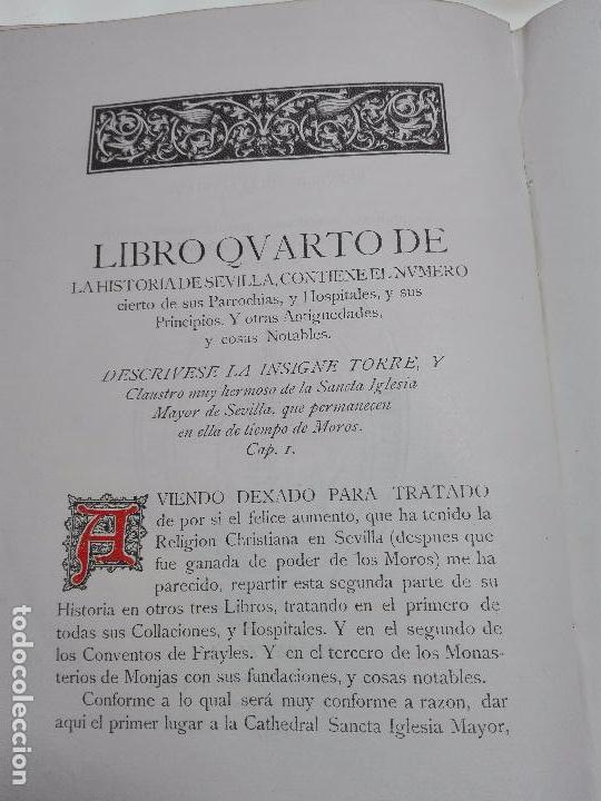 Libros antiguos: HISTORIA DE SEVILLA - ALONSO DE MORGADO - SEVILLA - IMPRENTA DE D. JOSÉ Mª ARIZA - 1887 - - Foto 8 - 104883023