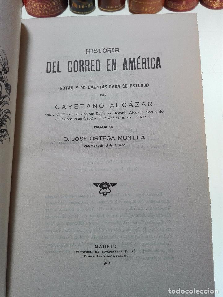 Libros antiguos: HISTORIA DEL CORREO EN AMÉRICA - NOTAS Y DOCUMENTOS PARA SU ESTUDIO - CAYETANO ALCÁZAR - MADRID-1920 - Foto 2 - 105234043