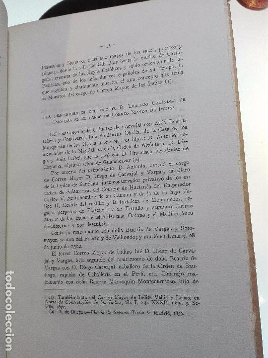 Libros antiguos: HISTORIA DEL CORREO EN AMÉRICA - NOTAS Y DOCUMENTOS PARA SU ESTUDIO - CAYETANO ALCÁZAR - MADRID-1920 - Foto 6 - 105234043