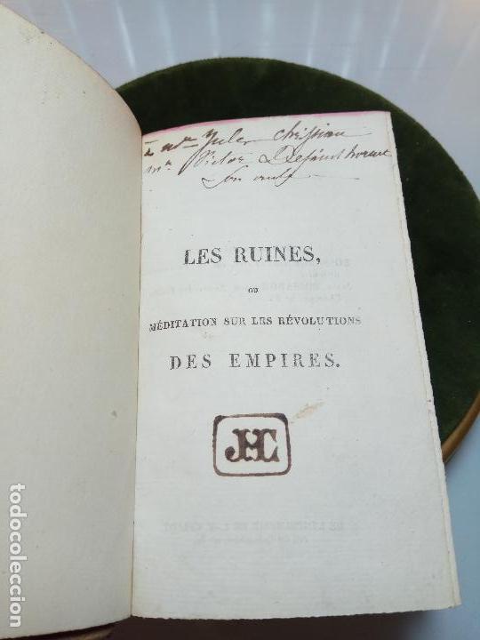 Libros antiguos: LES RUINES OU MÉDITATION SUR LES RÉVOLUTIONS DES EMPIRES - C.-F. VOLNEY - PARIS - BOSSANGE FRÉRES - - Foto 2 - 105716899