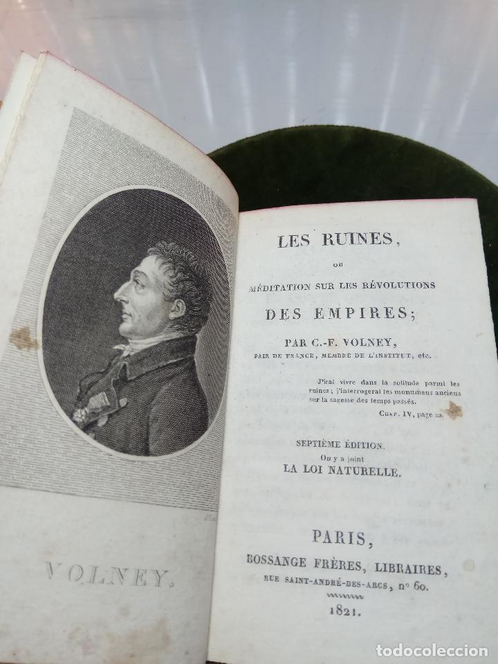 Libros antiguos: LES RUINES OU MÉDITATION SUR LES RÉVOLUTIONS DES EMPIRES - C.-F. VOLNEY - PARIS - BOSSANGE FRÉRES - - Foto 3 - 105716899