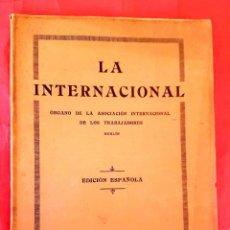 Libros antiguos: ANARQUISMO - LA INTERNACIONAL - AIT - Nº 1 - 1924. Lote 106634403