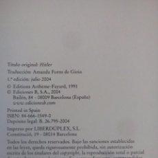 Libros antiguos: HITLER Y EL UNIVERSO HITLERIANO . Lote 108312699