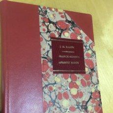 Libros antiguos: AÑO 1890.- MASONERIA. FRANCMASONERIA. RITUAL DEL APRENDIZ MASÓN. J. M. RAGON. Lote 109376875