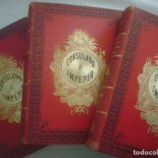 Libros antiguos: LIBRERIA GHOTICA. THIERS. HISTORIA DE LA REVOLUCIÓN FRANCESA. CONSULADO Y IMPERIO. 5 TOMOS.COMPLETO.. Lote 110275335