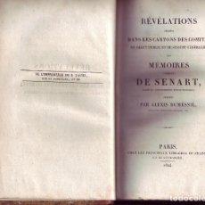 Libros antiguos: SENART. RÉVÉLATIONS PUISÉES DANS LES CARTONS DES COMITÉS DE SALUT PUBLIC ET DE SÛRETÉ GÉN. PARIS,. . Lote 110728403