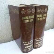 Libros antiguos: 2 TOMOS DE HISTORIA DEL PÀIS VASCO. Lote 111492007
