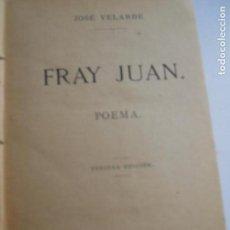 Libros antiguos: JOSE VELARDE POEMAS AÑO 1884 . Lote 111534859