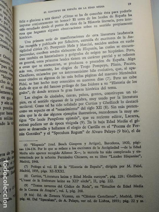 Libros antiguos: EL CONCEPTO DE ESPAÑA EN LA EDAD MEDIA - JOSE A MARAVALL - INST. DE ESTUDIOS POLÍTICOS - 1964 - - Foto 6 - 113337151