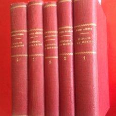 Libros antiguos: HISTORIA DE MÉXICO DESDE LOS PRIMEROS MOVIMIENTOS… L.ALAMAN 1938 * 5 VOLUMENES * 1800 PAG. Lote 144545585