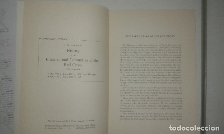 Libros antiguos: The Early Years of the Red Cross. International Review of the Red Cross. Geneva 1963 - Foto 2 - 114277359