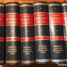 Libros antiguos: BIBLIOTECA DE LA GRAN ENCICLOPEDIA VASCA (450€)HISTORIA GENERAL DE VIZCAYA11TOMOS. Lote 115246643