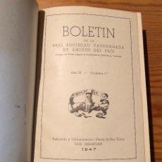 Libros antiguos: BOLETIN DE LA REAL SOCIEDAD VASCONGADA DE AMIGOS DEL PAIS-28TOMOS(600€). Lote 115247175