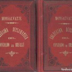 Libros antiguos: NUMULITE 0139 MONTSALVATJE COLECCIÓN DIPLOMÁTICA DEL CONDADO DE BESALÚ OLOT 1906 FIRMA MONTSALVATGE. Lote 115275111