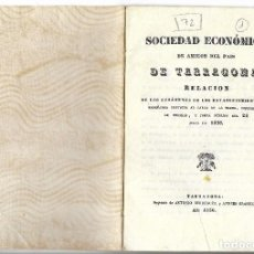 Libros antiguos: TARRAGONA - SOCIEDAD ECONOMICA DE AMIGOS DEL PAIS - VER FOTOS. Lote 115365619