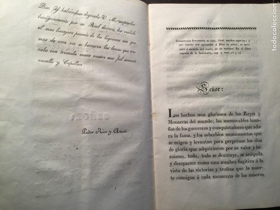 Libros antiguos: Elogio fúnebre. Reina María Amalia de Sajonia. Pedro Rico Amat. Madrid 1829 - Foto 4 - 116664702