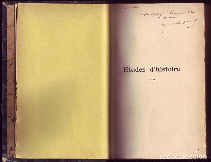 Libros antiguos: Études d´histoire (2 tomos). Arthur Chuquet,. Albert Fontemoing. París, 1920. 2 tomos. - Foto 3 - 117018299