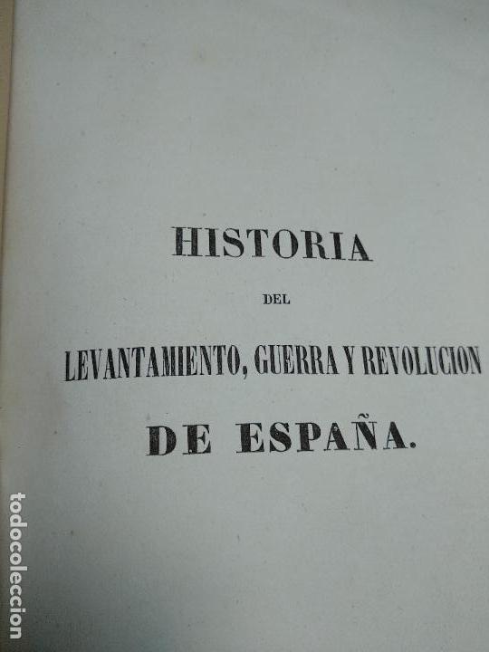 Libros antiguos: HISTORIA DEL LEVANTAMIENTO, GUERRA Y REVOLUCIÓN DE ESPAÑA POR EL CONDE TORENO - 4 TOMOS - 1847 - - Foto 9 - 117412967