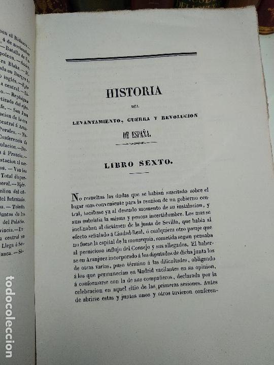 Libros antiguos: HISTORIA DEL LEVANTAMIENTO, GUERRA Y REVOLUCIÓN DE ESPAÑA POR EL CONDE TORENO - 4 TOMOS - 1847 - - Foto 11 - 117412967