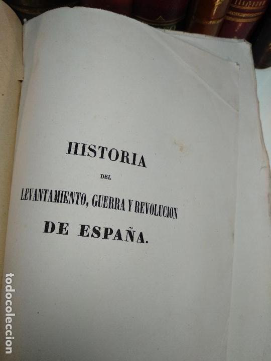 Libros antiguos: HISTORIA DEL LEVANTAMIENTO, GUERRA Y REVOLUCIÓN DE ESPAÑA POR EL CONDE TORENO - 4 TOMOS - 1847 - - Foto 21 - 117412967